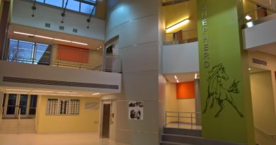 The new Shepherd Elementary Atrium, subject of the Meet and Greet