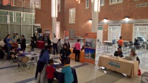 Schools share their information with interested parents at the school fair