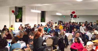 Packed house at the SPCA Potluck