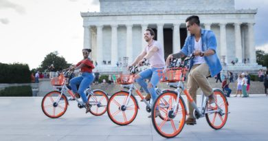 Dockless bicycles on the Washington Mall