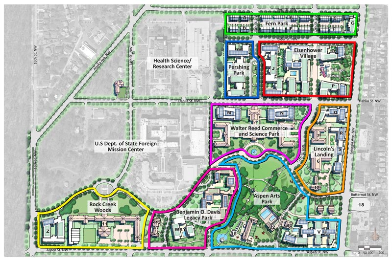 Walter Reed Site Map