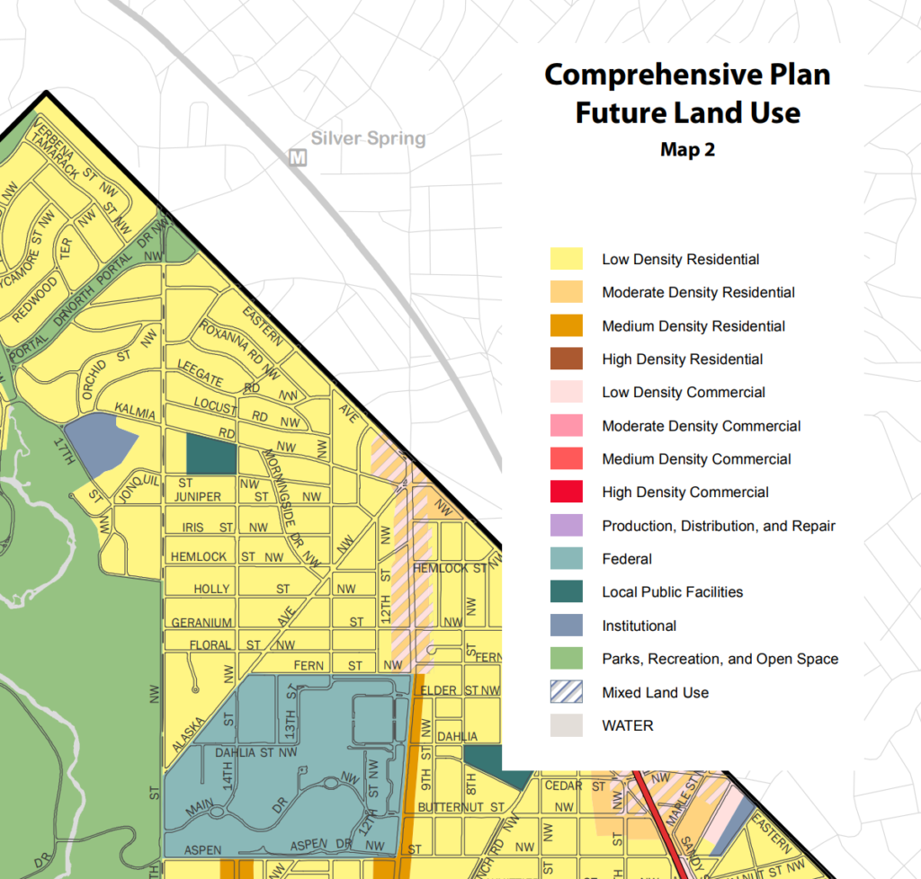 Shepherd Park Future Land Use Map