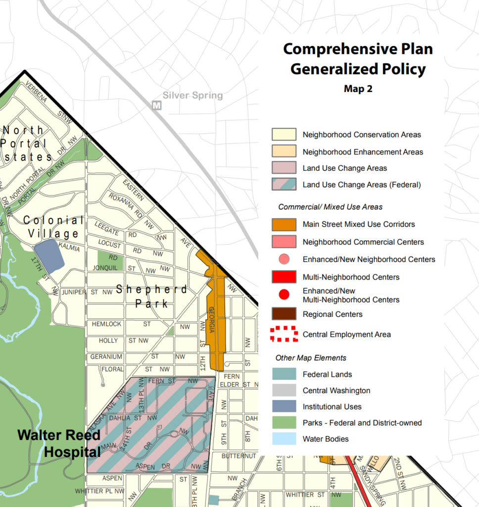 Shepherd Park Generalized Policy Map
