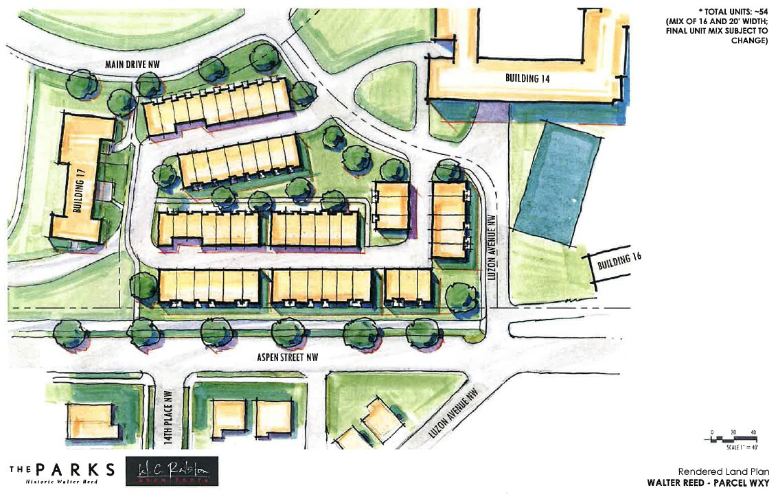 next phase in walter reed development 54 townhouse plan revealed at