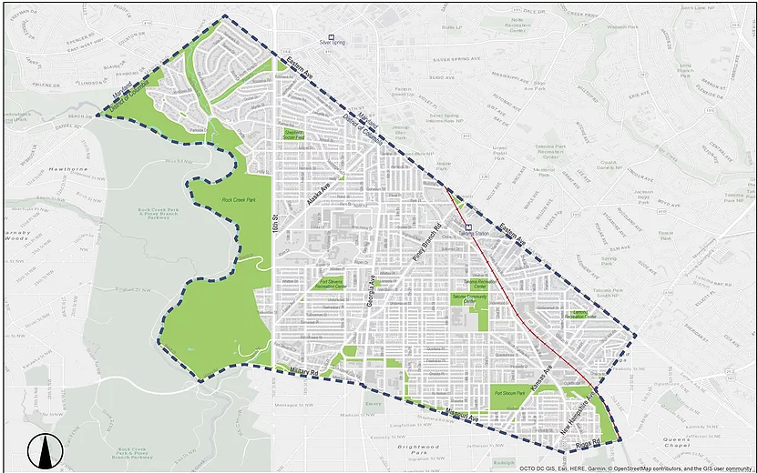 Rock Creek East Livability Study Map
