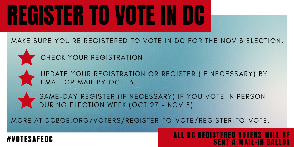 Register to Vote in DC
