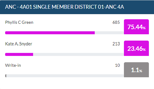 2020 Ward 4 ANC Election Results