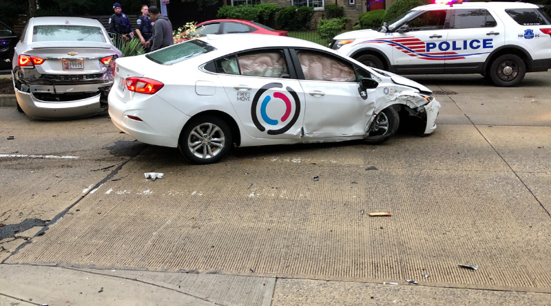 Crazy Accident on 16th Street NW